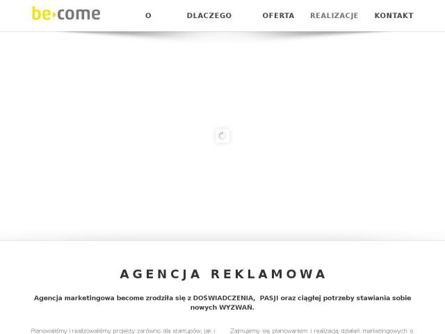 Strona Agencja Marketingowa BeCome